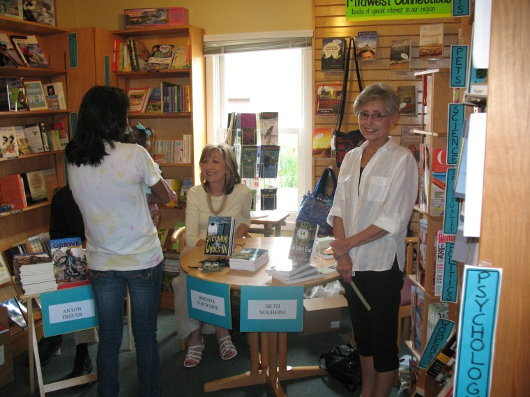 Beth at an author signing