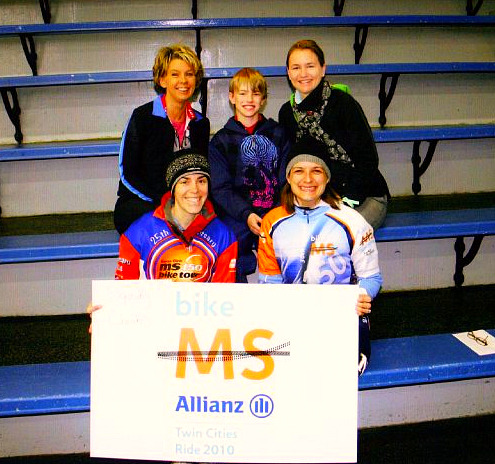 This is the Spring 2010 group that participated in the MS Allianz Ride... how nice we look...