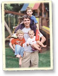 Randy and his three children