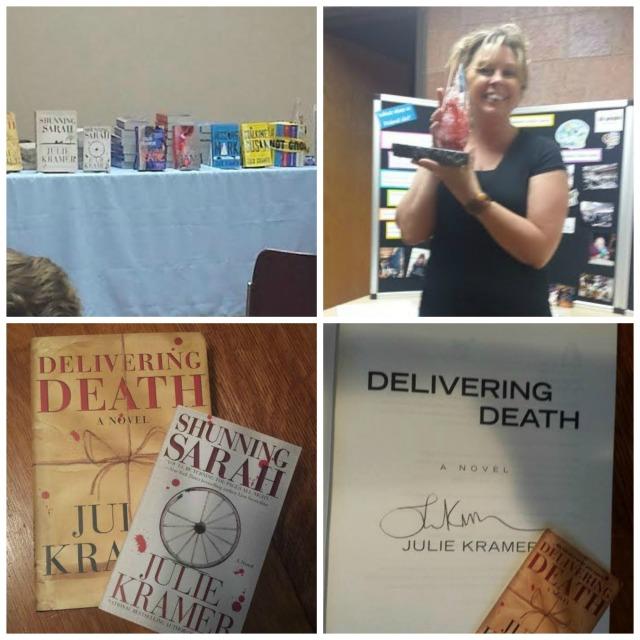 Julie Kramer, Book Journey, Delivering Death, Sheila DeChantal, Shunning Sarah
