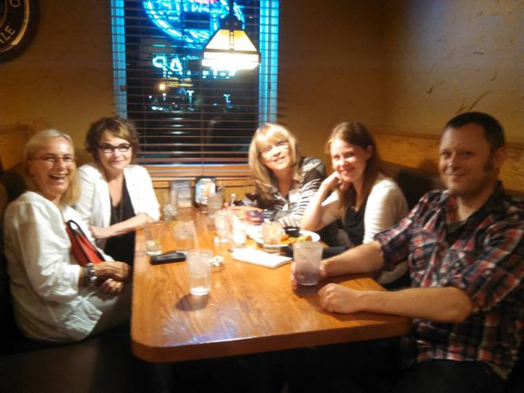 Love the after gathering with the authors!
