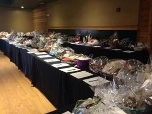 About 1/4 of the auction.  We had 114 baskets of items up for bid.
