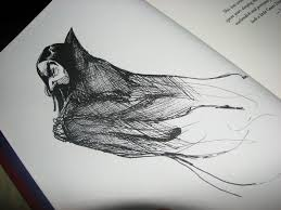 This is the original drawing of Snape as JK first pictures him.  This picture is in my book.