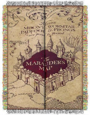 mauders map, book journey