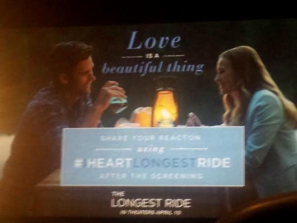 Nicholas Sparks, The Longest Ride, Scott Eastwood, Britt Robertson, Book JOurney, Minneapolis Premiere