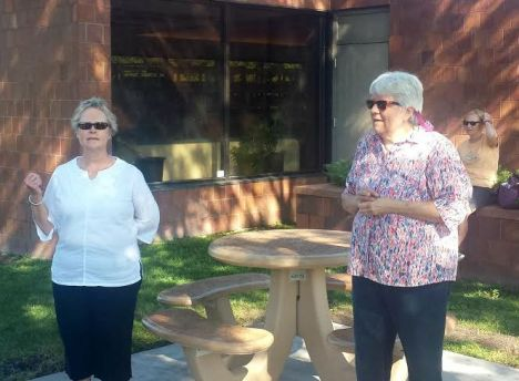 Two members of our friends group Dawn and Sherri spoke at the ribbon cutting