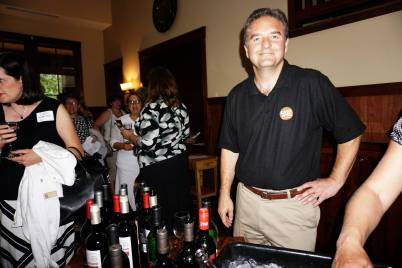 """The guy who puts the """"wine"""" in Wine and Words - our local Liquor man, Mark from Cash Wise Liquor"""
