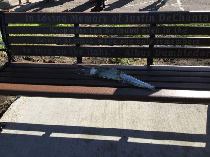 Justin's bench.